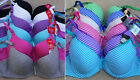 LOT Lace Stripes Plain Full Cup Soft Padded Spandx 30A 32A 34A 36A Cotton Bra
