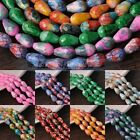 New 8X12mm 10X15mm Teardrop Colorful Faceted Lacquer Loose Glass Spacer Beads