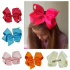 Big Baby Girls Solid Grosgrain Ribbons Hair Bows With Alligator Hair Clip Gift