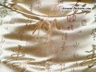 Chinese Silk Brocade Fabric Calligraphy Character Words DIY Craft Asian