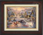 Thomas Kinkade Mickey and Minnie Sweetheart Holiday 18 x 24 LE S/N Canvas Framed