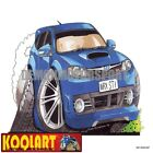 Koolart Cartoon Subaru Impreza WRX STi 07-11 Blue - Mens Gifts (2567)
