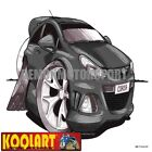 Koolart Cartoon Opel Vauxhall Corsa D OPC VXR Black - Mens Gifts (3091)