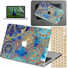 "Painted Old Mandala Rubberized HARD CASE Macbook Cover For Air Pro 11""13""15""12"""