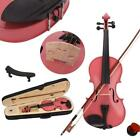 New Colorful 4/4 3/4 1/2 1/4 1/8 Size Acoustic Violin Fiddle with Case Bow Rosin