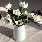 Artificial Magnolia Silk Flower Bridal Wedding Bouquet Home Garden Decor