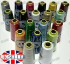 5000 YARDS X 2 Reels OVERLOCKER SEWING MACHINE THREAD POLYESTER TOP QUALITY UK