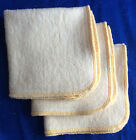 NEW Hemp Organic Cotton Fleece Wipes 10 x 10  cloth baby wipes Gold Trim