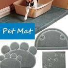 Pet Doormat Kitty Cat Litter Box Mat Clean Toilet Dog Dish Bowl Food Water Tray