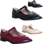 13111 Womens Flat Sole Shoes Round Toe Buckle Up Ladies Geek style Tear Drop Sho