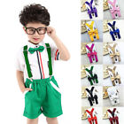 Внешний вид - Polyester Kids Suspenders and Bowtie Bow Tie Set Matching Ties Outfits wholesale