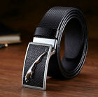 Fashion Men's Casual Waistband Genuine Leather Flat Buckle Waist Strap Belts New