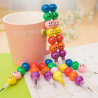 4Pcs/set Funny Stationery Pen 7 Smiling Colors Crayons Candied Fruits Pens