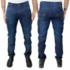 Mens Voi Cuffed Jogger Denim Designer Trendy Stylish Combat Cargo Pants Jeans