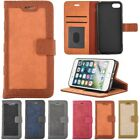 Flip Kickstand Canvas+PU Leather Card Photo Frame Wallet Case Cover For iphone 7