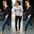 Slim Women Fashion Loose Size Solid Color Long Sleeve Shirt Casual Formal Tops