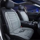 12V Velour Heated Car Front Seat Cushion Cover QuickHeater Warmer 2-Level Grey