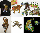 1PCS Embroidered Large Tiger Sewing Appliques Clothes Accessoreies Design WT80