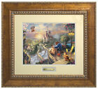 Thomas Kinkade Disney's Beauty and the Beast Falling in Love Prestige Home