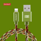 Braided SYNC USB Data Charger Cable Code For iPhone 6 6S 7 Plus Android Samsung