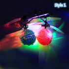 Mini Aircraft Flying Remote Control RC Ball Infrared Flashing Light Kids Toys