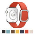 For Apple Watch Luxury Modern Buckle Band Genuine Leather Strap Magnetic Closure