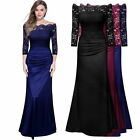 Women's Formal Evening Cocktail Party Vintage Lace Wedding Long Prom Dresses