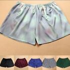 100% Pure Silk Men's Unisex Night Sleep Shorts Sleepwear Undershorts XL