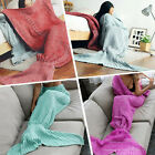 Mermaid Tail Handmade Crocheted Cocoon Sofa Blanket Beach Quilt Rug For Girls