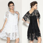 Fantastic V-neck Womens Cocktail Prom Party Floral Lace Up Bridesmaid Dress Mini