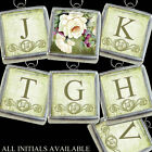 "A White Roses Initial Letters Boho Necklace Handcrafted Silver 1"" Charm Pendant"