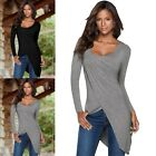 Plus Size Womens Fashion T shirt Ladies Long Sleeve Scoop Neck Tee Top Blouse