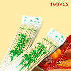 100/200/300 Pcs Kabob Skewers Stick Bamboo Grill BBQ Fruit Shish Cook Fondue