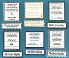 6 With Sympathy Verse Toppers With / Without Matching Sentiment Message Banners