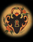 Heartlock by Christopher Perrin Tattoo Giclee Art Print