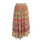 Circular Skirts, Floral Animal Designs, Thai Cotton, Winter, Gold, Red, Green