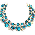 Women Alloy Crysta Beads Flowers Chain Necklace Pendants Fashion Jewelry Hot