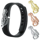 New For Fitbit Flex 2 Stainless Steel Stylish Cover Jewelry Cat Shape Rhinestone