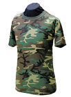 Men's T-Shirt - Woodland Camo Short Sleeve / Made in the USA