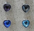12mm Coloured Hearts with Silver Surrounds Snap Button