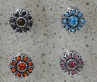 12mm Coloured Hearts Flowers Snap Button