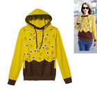 Leaves Pullover College Girl Color Block Women's Hoodies Sport Outwear Sweats
