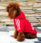 Pet Puppy Dog Cat Jacket Coat Winter Warm Clothes Hoodie Sweater Adidog Costumes