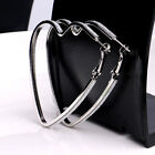 Fashion Enamel Frosted Hoop Diamante Heart Earrings For Women 2 Colors Exquisite