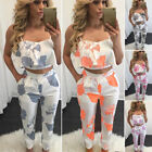 Внешний вид - Women 2 Pieces Outfits Cami Top Sleeveless Jumpsuit Romper Long Pants Playsuit
