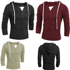 Men's Casual Knitted Sweaters Hoodies Slim Fit Long Sleeves Thin Sweatshirts