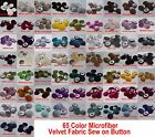 "6 Piece 1""inches / 25mm microfiber velvet Covered Dome Coat Jacket Sew On Button"
