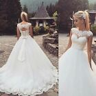 New White/Ivory Wedding dress Bridal Gown Stock Size US 4-6-8-10-12-14-16-16W