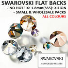 SWAROVSKI Flat Back Crystals Rhinestones: 1.8mm(SS5) NO HOTFIX 2058: ALL COLOURS