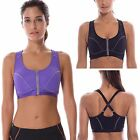 Women's High Impact Front Closure Racerback Full Support Sports Bra
